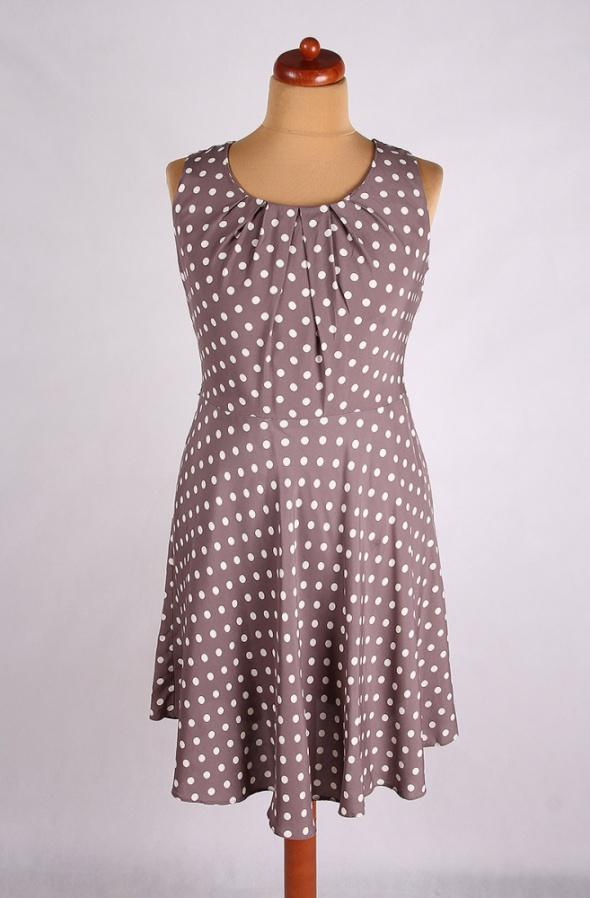 b7d6ea7a2a SUKIENKA MIDI W GROSZKI RETRO VINTAGE 46 48 w Suknie i sukienki ...