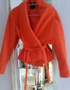 Krótki plaszczyk mohito orange pomarańczowy 36