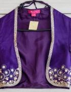 Fioletowe orientalne bolerko