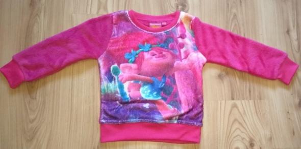 Nowa bluza różowa pluszowa dziewczęca Trole Trolls Poppy 98 104