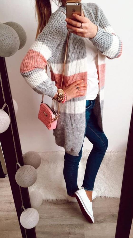 Sweter Damski dłuższy M L