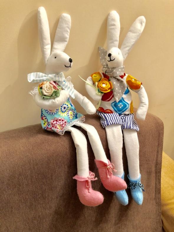 Ręcznie robione króliczki