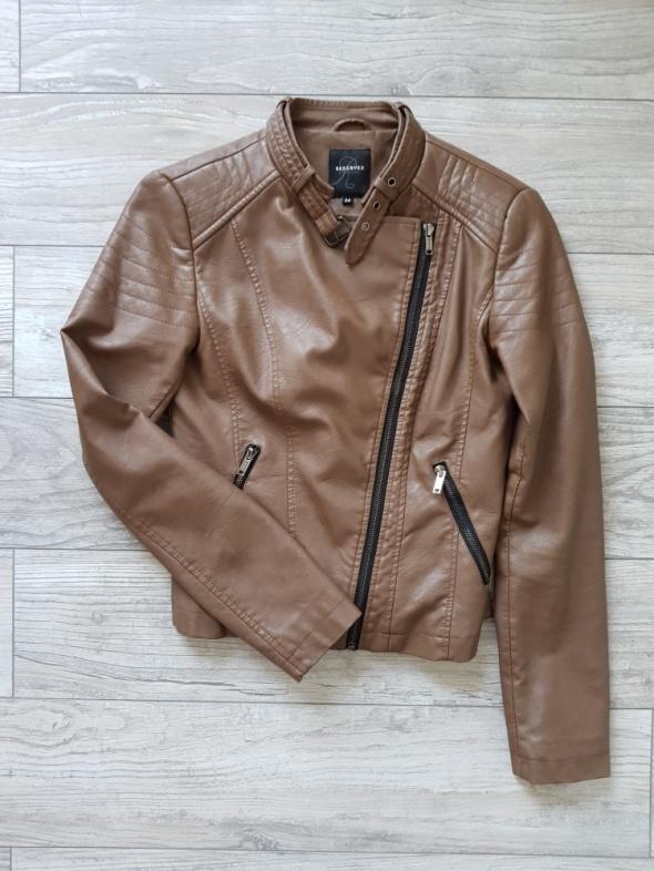 458cc4acacbc1 Ramoneska kurtka skórzana ekoskóra brązowa Reserved w Odzież ...