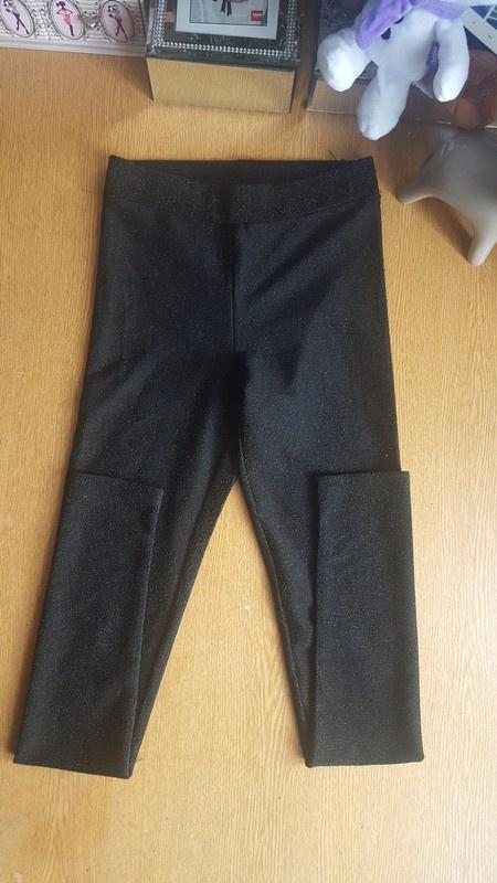 Getry legginsy czarne ze srebrna nitka s