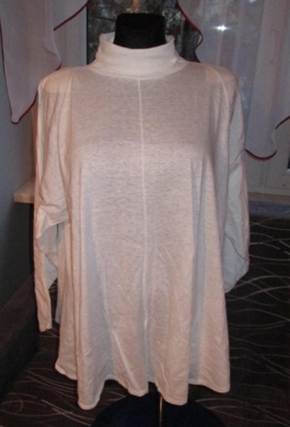 Extra biala tunika oversize w roz 48 52
