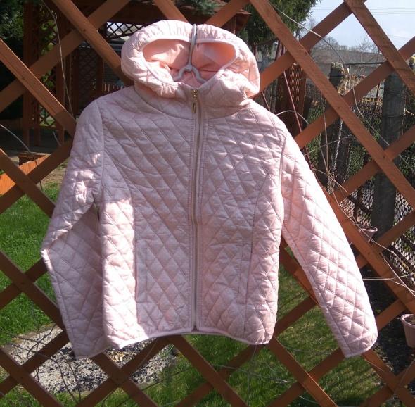 Nowa jasno różowa pikowana kurta wiosenna 140