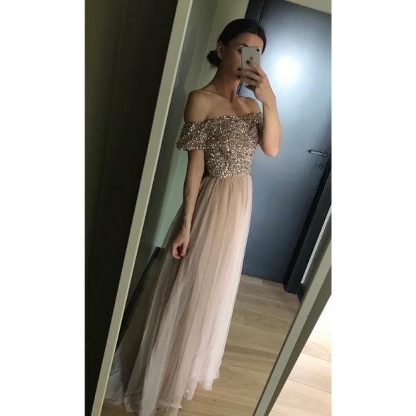 Sukienka Maya Asos zdobienie cekiny studniówka ślub L