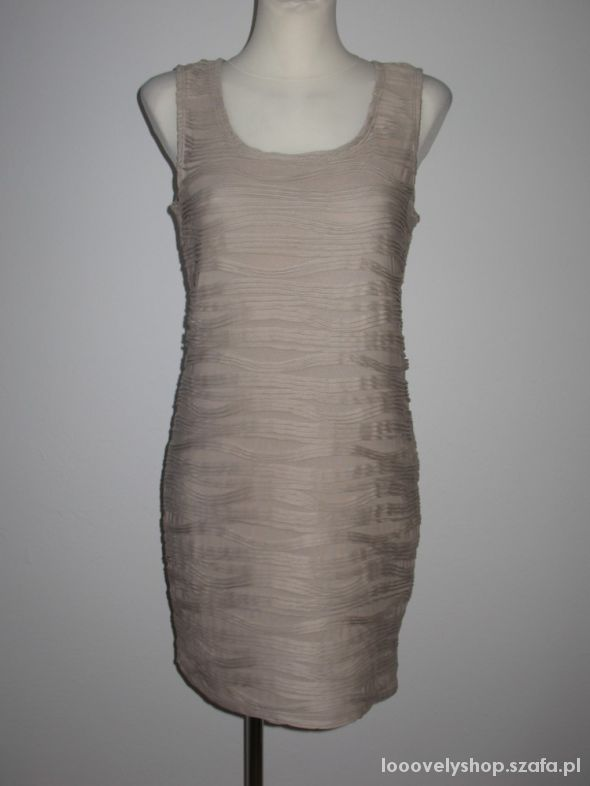 Nowa sukienka Fransa beż rozm L...