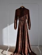 sukienka DŁUGA cynamon Orient BOHO 38 M...