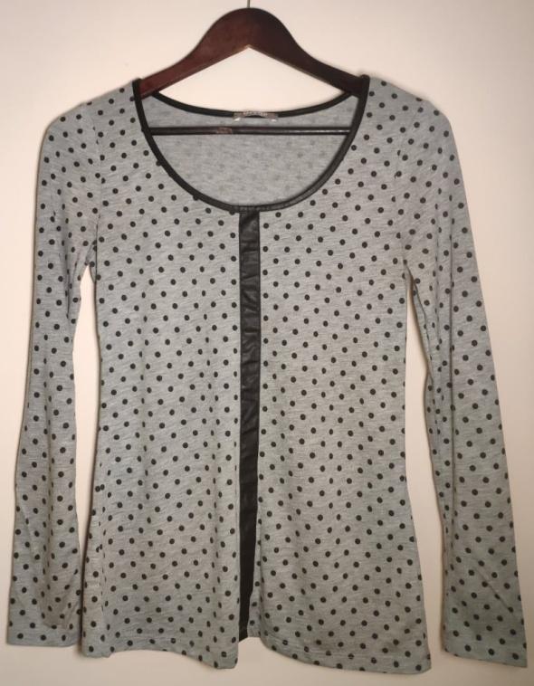 Szara bluzeczka w groszki rozmiar XS firma Orsay stan idealny...