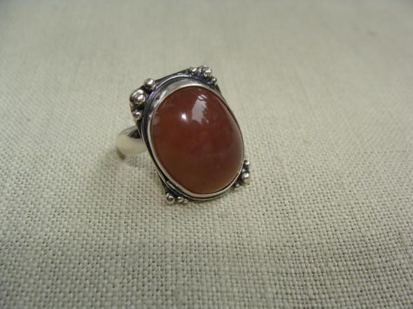 Pierścionek srebrny z agatem