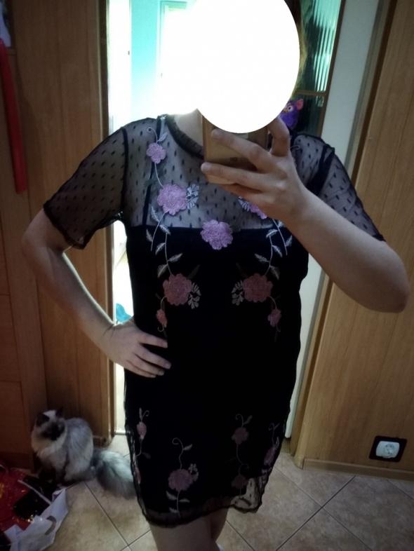 Piękna tunika koronka hafty New Look roz 42 44