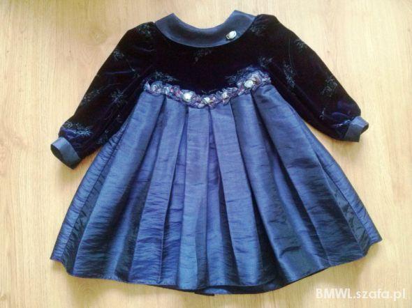 Elegancka suknia wizytowa dla młodej damy ok 104cm