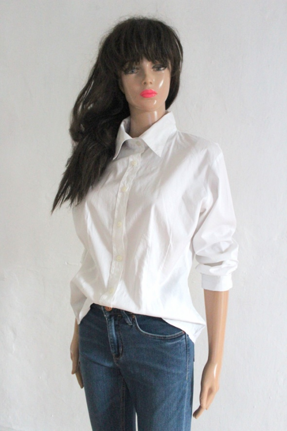 Biała elegancka koszula długi rękawek r około L...