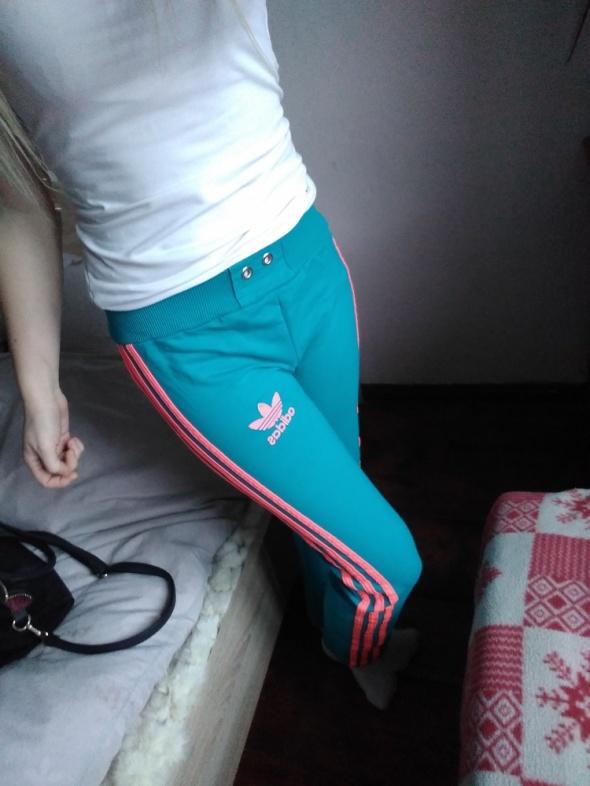 Spodnie adidas dresy s różowe