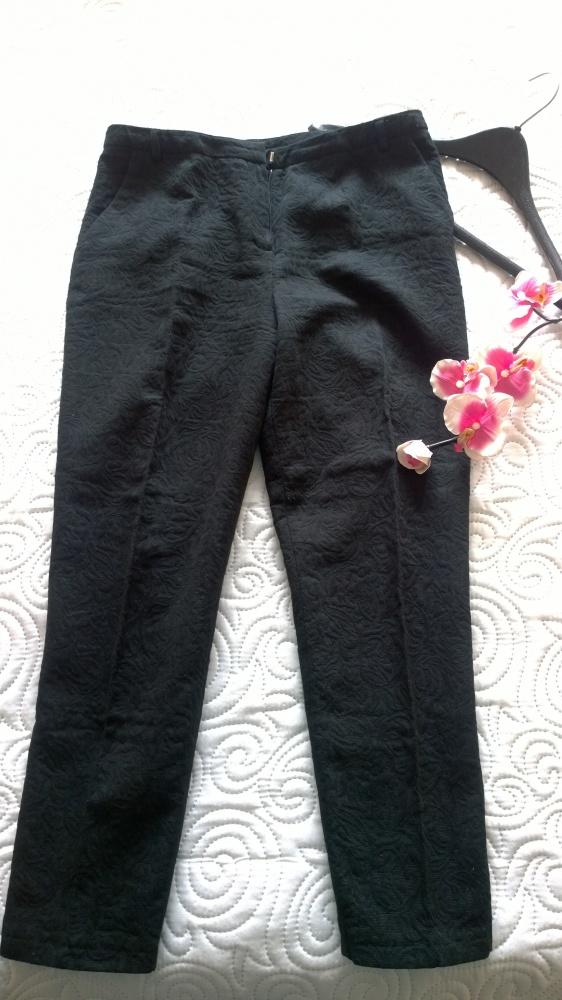 spodnie żakardowe 40 42