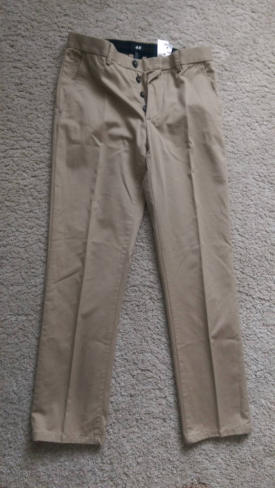 Spodnie męskie beżowe HM 170 44 30R