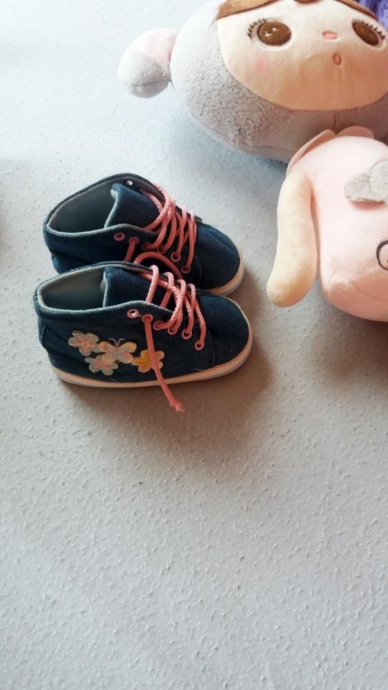 Adams buty tenisówki trampki niechodki jeansowe kwiatki 12 18m 86