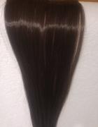 Włosy doczepiane sztuczne Clip in 44 cm czekoladowy brąz...