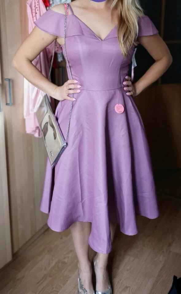 0e2b1126c6 Fioletowa sukienka New Look roz 36 w Suknie i sukienki - Szafa.pl