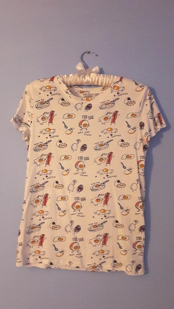 T shirt BERSHKA bekon i jajka bacon and eggs XS S lato summer...