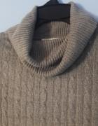 Szary golf sweterek S M