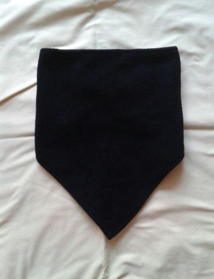 Chusty i apaszki Nowy czarny polarowy kołnierz komin trójkątna chustka bandana