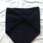Nowy czarny polarowy kołnierz komin trójkątna chustka bandana