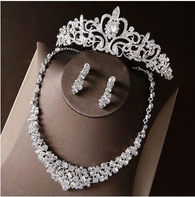 Biżuteria ślubna komplet cyrkonia