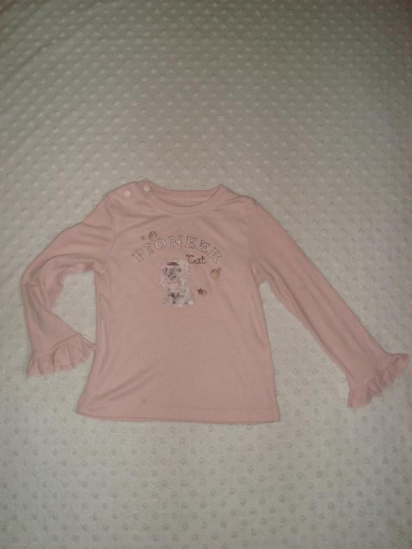 śliczna różowa bluzeczka z koteczkiem