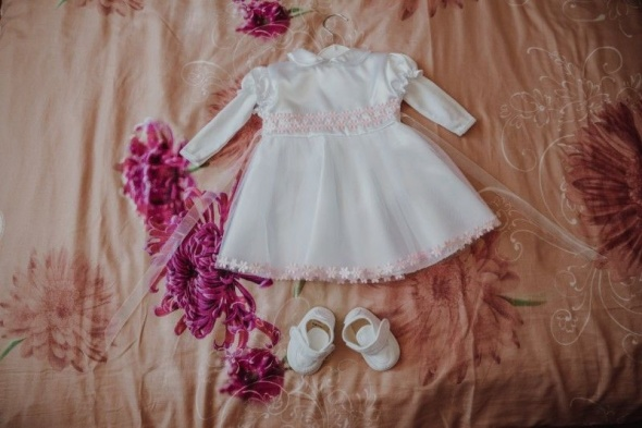 Sukienka i buciki do Chrztu