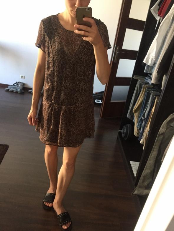Sukienka z motywem zwierzęcym Mango