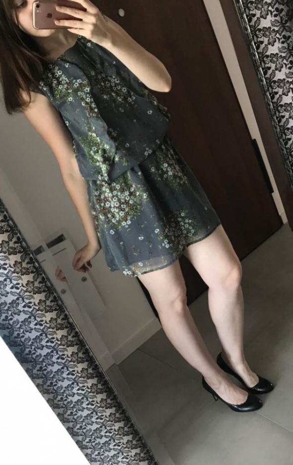 Sukienka mini floral lato S M L oversize...