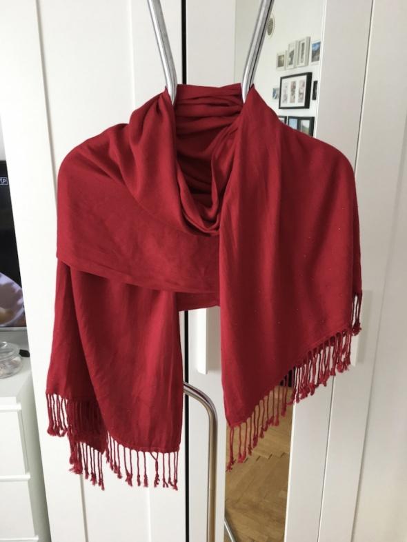 Czerwony szal chusta Pashmina