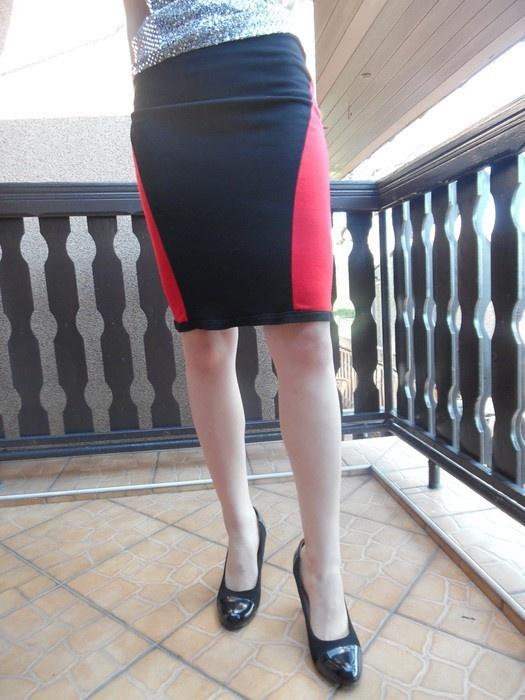 spódniczka czarno czerwona r 44 46