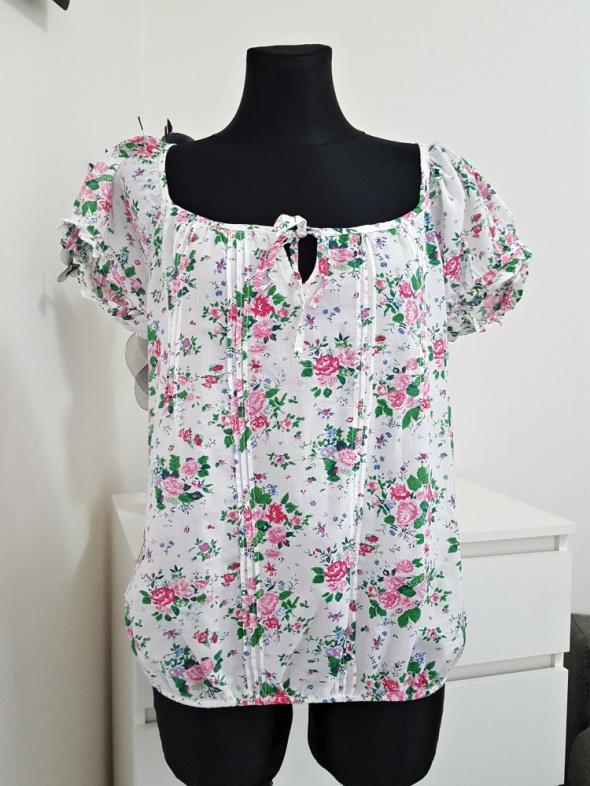 biała bluzka w kwiaty Amisu