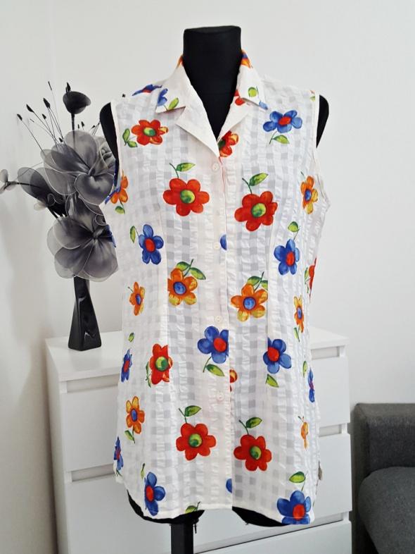 beżowa bluzka w kwiaty C&A