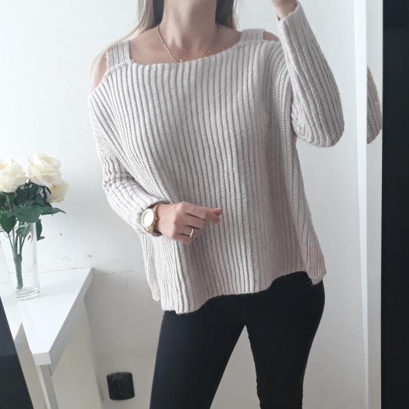 New look sweter odkryte ramiona róż luźny S M