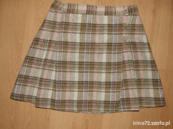 RESERVED spódniczka kratka śliczna 134 cm