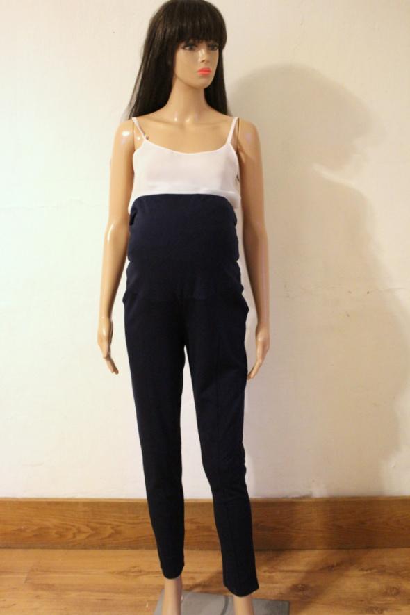 Granatowe dresowe spodnie ciążowe r L...