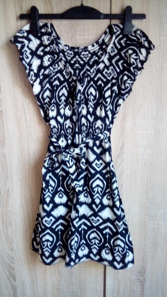etniczna tunika sukienka S M