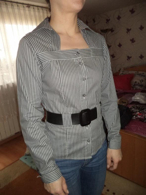 koszula w paski z kołnierzykiem M