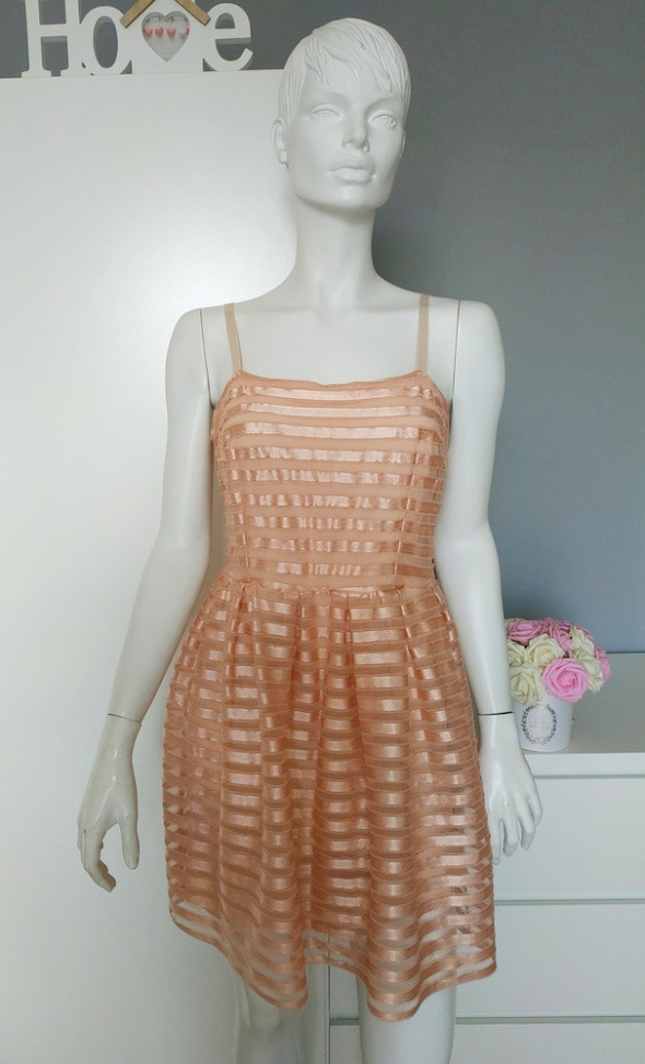 14057b88b8 Sukienka rozkloszowana S M wesele brzoskwiniowa w Suknie i sukienki ...