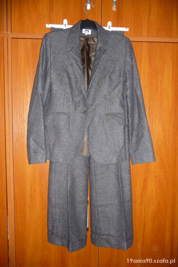 Tweedowy damski garnitur