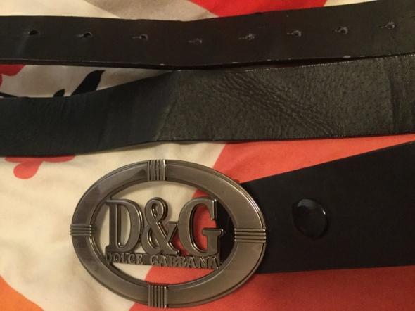 Dolce&Gabbana 4cm pasek skora eko z klamra Dolce and Gabbana D&...