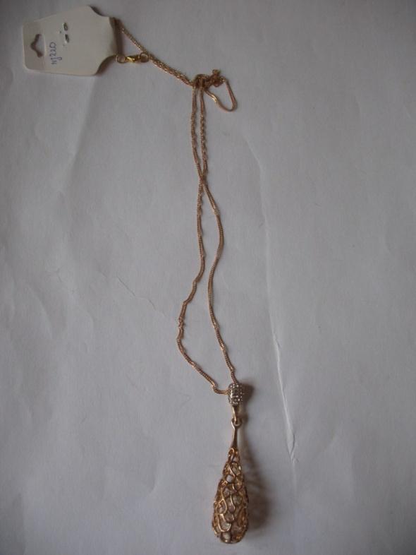 Naszyjnik kolor złoto ażur