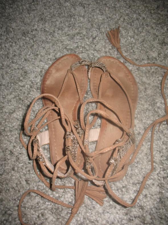 Brązowo beżowe sandałki rozmiar 36 Deezee...