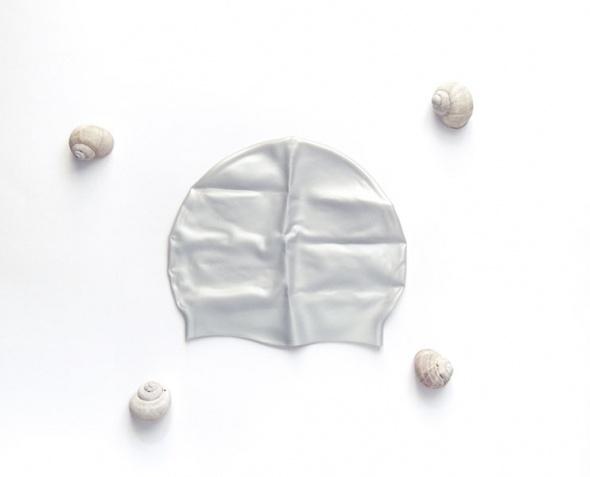 srebrny czepek silikonowy