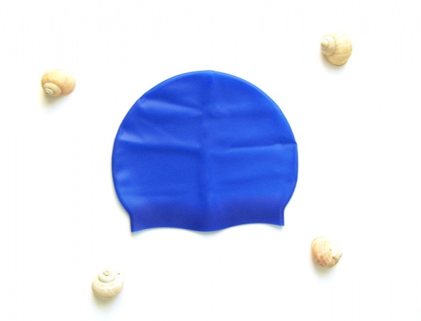 Granatowy czepek silikonowy