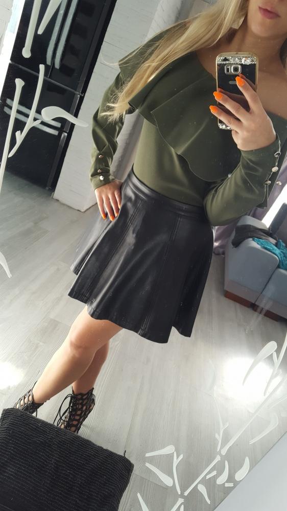bluzka hiszpanka khaki 36